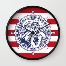 Sail Away With Me Wall Clock