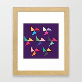 Colorful geometric pattern IV Framed Art Print