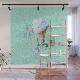 Blue Sugar Icecream Cone Wall Mural