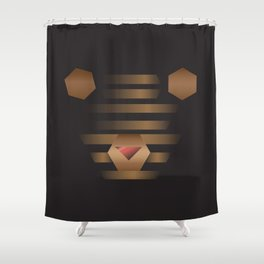 Teddy Bin Shower Curtain