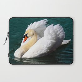 Swan Floating on the Water Laptop Sleeve
