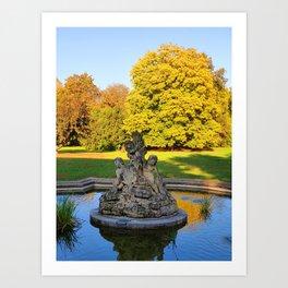 Luzanky Park in Brno Art Print