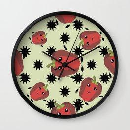 Cute red pepper Wall Clock