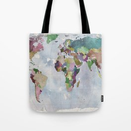 Task: Find the countries that are missing! Tote Bag