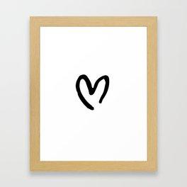 Black and White Heart Framed Art Print