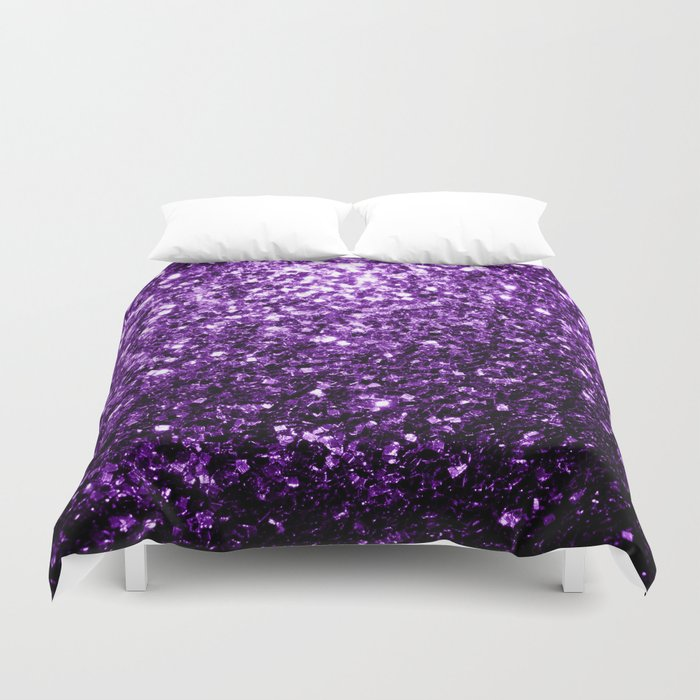 Beautiful Dark Purple glitter sparkles Bettbezug