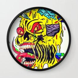 Skull Keeping Wall Clock