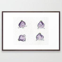 Figs doing yoga Framed Art Print