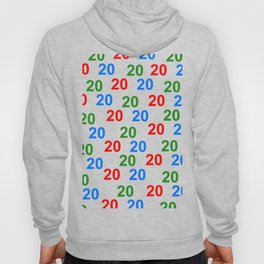colorful number pattern 20, birthday 20, gift 20 Hoody
