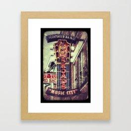 Nashville Crossroads Framed Art Print