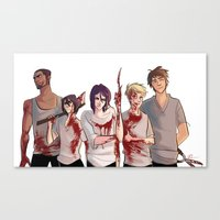 kuroko Canvas Prints featuring Uncrowned Murder Club by Vicky Newberry