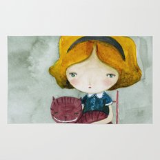 Alice In Watercolorland Rug