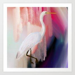 Fairweather Crane Art Print