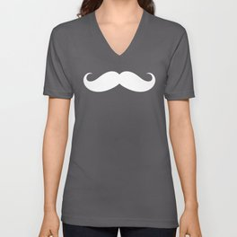BIG MUSTACHE (Black & White) Unisex V-Neck