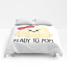 Ready To Pop - Popcorn Pink Bow Comforters