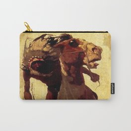 """N C Wyeth Vintage Western Painting """"Indian Lance"""" Carry-All Pouch"""