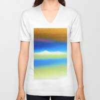 bands V-neck T-shirts featuring Colour Bands by Brian Raggatt