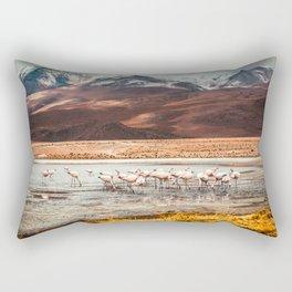 Flamingo Lake, Bolivia #society6 #buyart #homedecor Rectangular Pillow