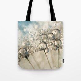 Sapphire & Silver Sparkle Tote Bag