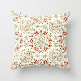 Flower Crown Carnival Throw Pillow
