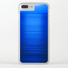 Sunset on the Water-Deep Blue Clear iPhone Case