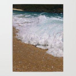 Wave Closeup Poster