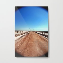 Road to Mud Pots Metal Print
