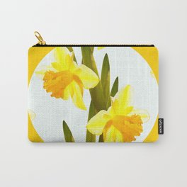 Yellow Spring Flowers with Green Leaf #decor #society6 #buyart Carry-All Pouch