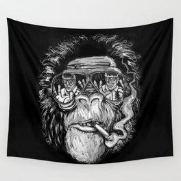 Monkey glasses Wall Tapestry