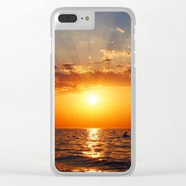 Aegean July sunset Clear iPhone Case
