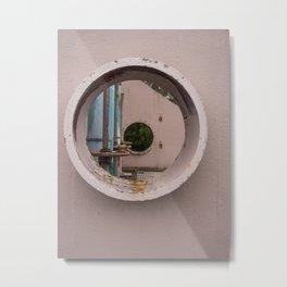 Pump House Porthole Metal Print