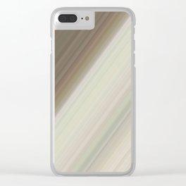 Modern Neutral Taupe Cream V design Clear iPhone Case