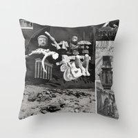 tape Throw Pillows featuring Tape by Young Weirdos Guild