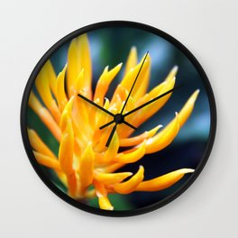 Yellow and Spikey Wall Clock