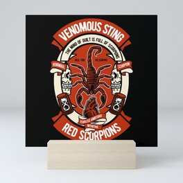 VENOMOUS STING RED SCORPIONS Mini Art Print