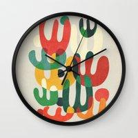 cactus Wall Clocks featuring Cactus by Picomodi