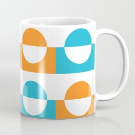 Modern abstract complimentary colors  geomteric art  - orange and teal Coffee Mug