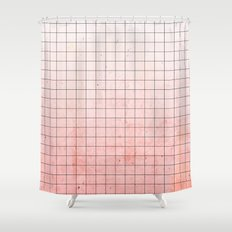 Sweet Pink Geometry Shower Curtain