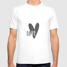 Home, Love, Illustration, Heart,  White Mens Fitted Tee MEDIUM