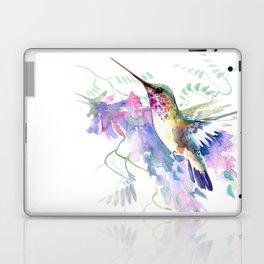 Hummingbird and Soft Purple Flowers Laptop & iPad Skin
