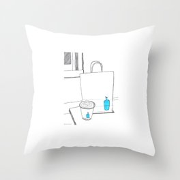 Bluebottle in San Francisco Throw Pillow