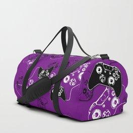 Video Game Purple Duffle Bag