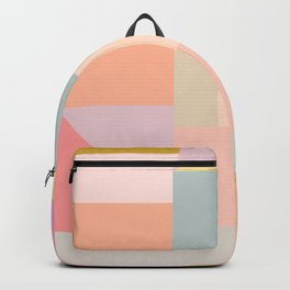 Pastel Geometric Graphic Design Backpack