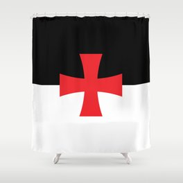 Knights Templar Flag - High Quality Shower Curtain