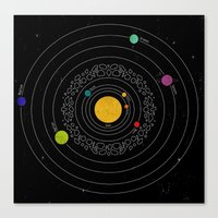 solar system Canvas Prints featuring Solar System  by Luis Patino