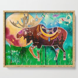 Fantastic Moose - Animal - by LiliFlore Serving Tray