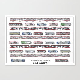 The Transit of Greater Calgary Canvas Print