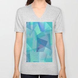 Blue Glass Shards Unisex V-Neck