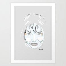 Portrait: Bjork Art Print
