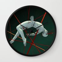 cyberpunk Wall Clocks featuring Dividendo Digital by Obvious Warrior